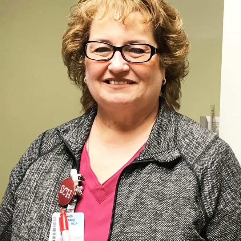 Tracy Simpson, CRT-RCP, is the Cardiopulmonary Supervisor at Scotland County Hospital & Clinics was awarded the 25-year service pin during National Hospital Week.